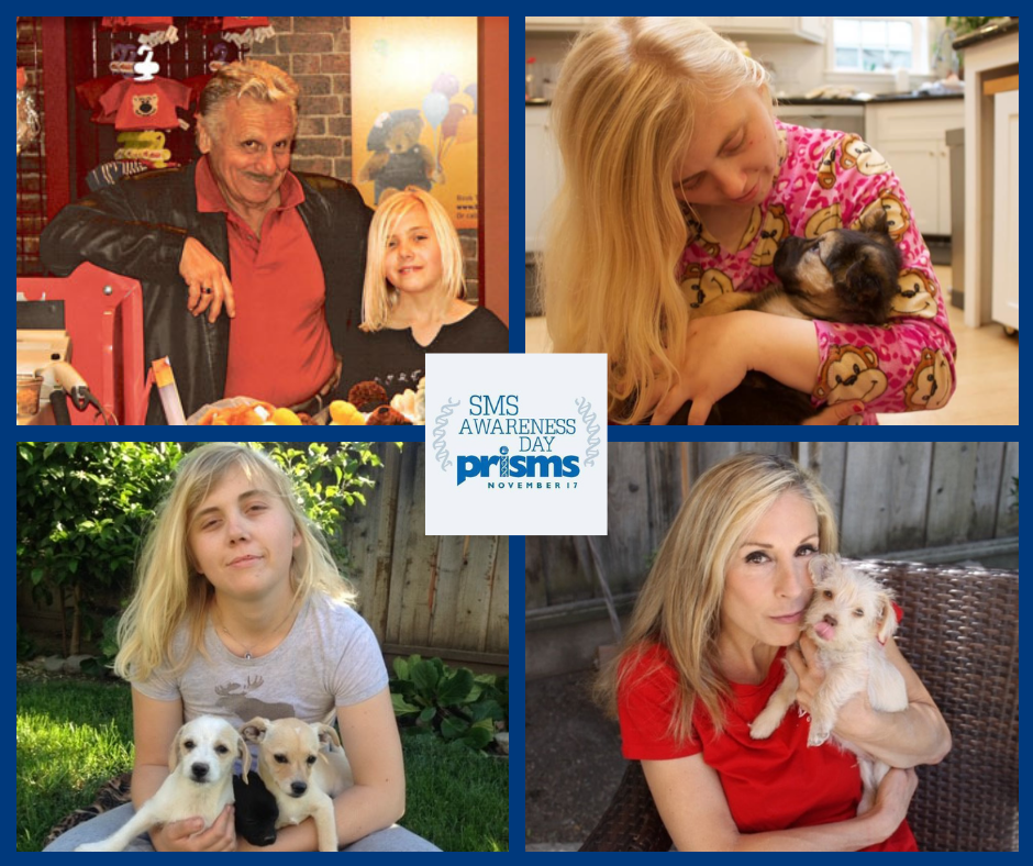 The Paladini family - Achille, Laura, and Samantha (plus puppies)
